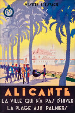 Foam board print  Alicante (French) - Travel Collection