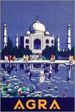 Wood print  Agra - Travel Collection