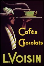 Premium poster Chocolate cafes (French)