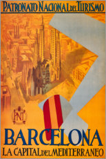 Canvas print  Barcelona (Spanish) - Travel Collection