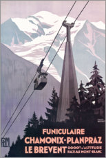 Gallery print  Chamonix-Mont-Blanc (French) - Travel Collection