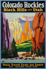 Premium poster Colorado Rockies (English)