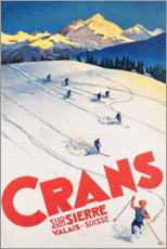 Wood print  Crans-Montana (French) - Travel Collection