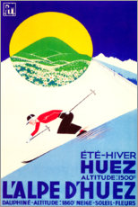 Premium poster  L'alpe d'huez (French) - Travel Collection