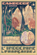 Premium poster  Angkor-Cambodia (French) - Travel Collection