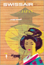 Premium poster Swissair to Japan (English)