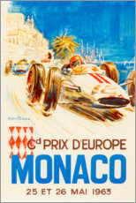 Foam board print  Grand Prix of Monaco, 1963 (French) - Travel Collection