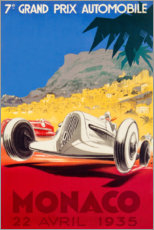 Canvas print  Grand Prix of Monaco 1935 (French) - Travel Collection