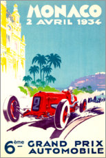 Premium poster  Grand Prix of Monaco 1934 (French) - Travel Collection