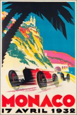 Wood print  Monaco 1932 (French) - Travel Collection