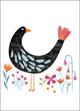 Wall sticker  Bird with a Fancy Tail - Nic Squirrell