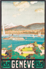 Gallery print  Geneva (French) - Travel Collection