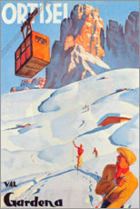 Wood print  Ortisei - Val Gardena - Travel Collection