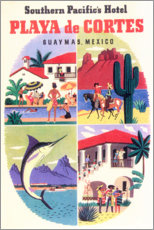 Wall sticker  Playa de Cortes (English) - Travel Collection