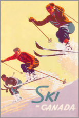 Wood print  Ski in Canada (English) - Travel Collection