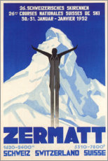 Canvas print  Zermatt - Travel Collection