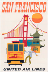 Premium poster  San Francisco (English) - Travel Collection