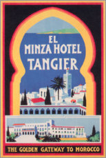 Canvas print  Minza Hotel Tangier (English) - Travel Collection
