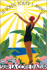 Premium poster  On the French Riviera (French) - Travel Collection