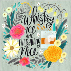 Canvas print  Whiskey, Ice and Everything Nice - Cynthia Frenette