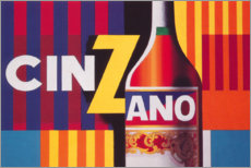 Wood print  Cinzano Vermouth - Advertising Collection