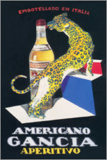Acrylic print  Gancia Vermouth Bianco (Italian) - Advertising Collection