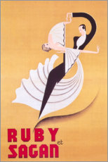 Premium poster Ruby et Sagan (French)