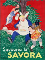 Canvas print  Enjoy the Savora (French) - Leonetto Cappiello