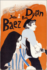 Canvas print  Bob Dylan and Joan Baez concert (English) - Entertainment Collection