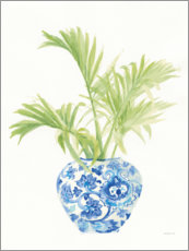 Premium poster Palm trees Chinoiserie I
