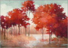 Aluminium print  Red autumn landscape - Julia Purinton