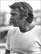 Wood print  Steve McQueen - Celebrity Collection