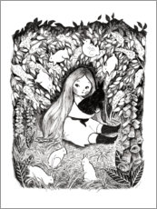 Gallery print  Rabbit Girl - Michelle Beech