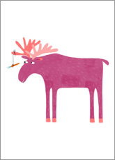 Canvas print  Daft Moose - Nic Squirrell