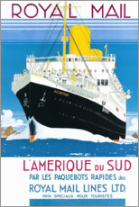 Premium poster Royal Mail Line Ltd. (French)