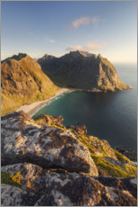 Wood print  Pinnacles above the sea, Norway - Tobias Richter