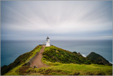 Aluminium print  Lighthouse in Cape Reinga, New Zealand - Igor Kondler