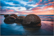 Wall sticker  Sunset at Moeraki Boulders in New Zealand - Igor Kondler