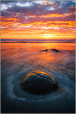 Acrylic print  Sunset at the Moeraki Boulders - Igor Kondler