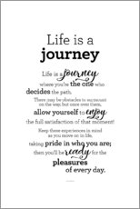 Canvas print  Life is a journey - Story of my heart