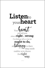 Premium poster  Listen to your heart - Story of my heart