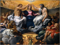 Premium poster  Coronation of the Virgin Mary - Antonio Carracci