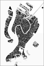 Foam board print  City map of Venice - PlanosUrbanos