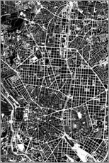 Canvas print  City map of Madrid - PlanosUrbanos