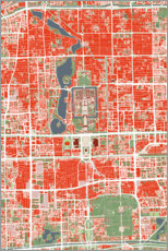 Foam board print  City map of Beijing, colorful - PlanosUrbanos
