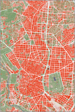 Premium poster  City map of Madrid, colorful - PlanosUrbanos