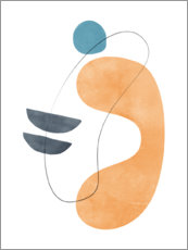 Premium poster  Abstract composition VIII - Nouveau Prints