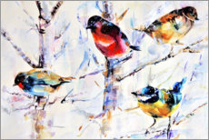 Gallery print  Birds on branches - Keti Teichner