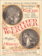 Aluminium print  The sufferings of young Werther (French) - Eugene Grasset