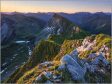 Wood print  Alps at sunrise - Michael Breitung